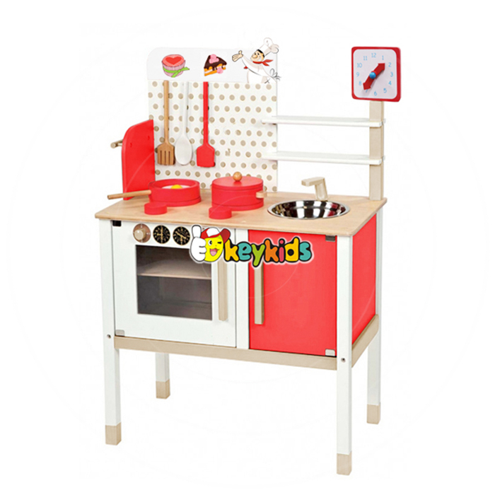2017 wholesale wooden baby play kitchen toy best wooden kids play kitchen toy funny children play kitchen toy W10C035