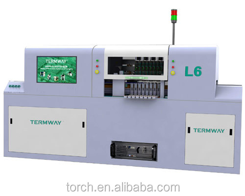 6Mounter Head Online LED High Speed pick and place machine &pcb v-cut machine for Professional LED Light Bar (Torch)