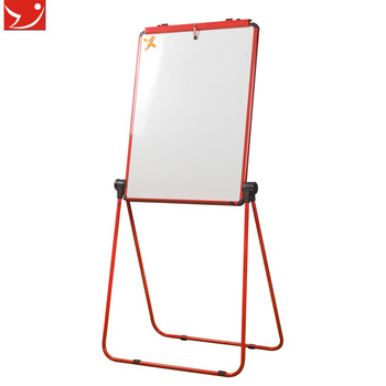 YDB-002 U Dual-Face office supply Red White Board Flipchart Easel