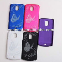 Butterfly Rubber Hard Case For Samsung Galaxy Nexus i9250