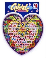 2011 heart shape new resin epoxy colorfull sticker