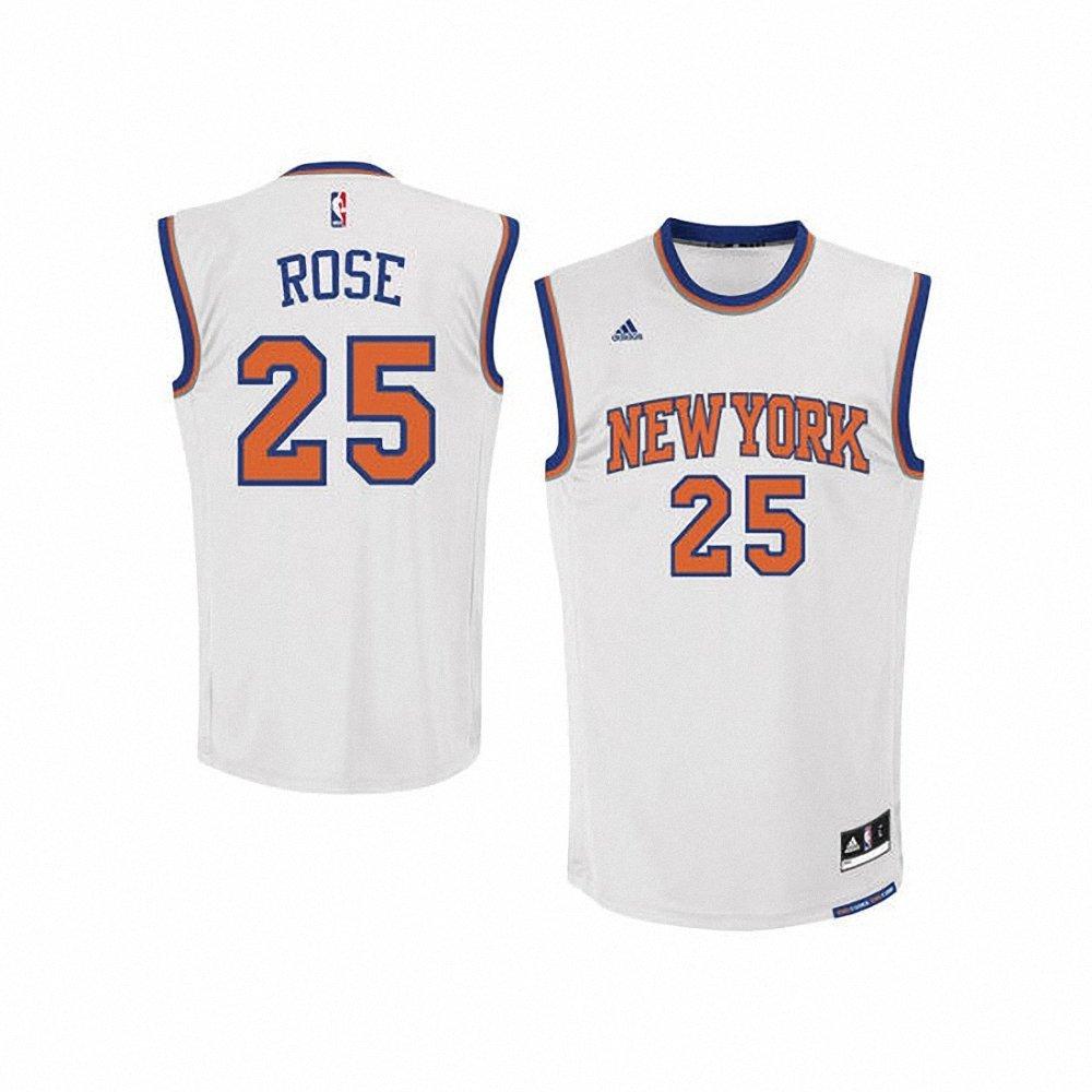 34b2734ce49 Get Quotations · Men s New York Knicks Derrick Rose Home Swingman Jersey