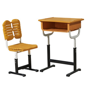 China supplier School furniture Cheap plastic student desk and chair