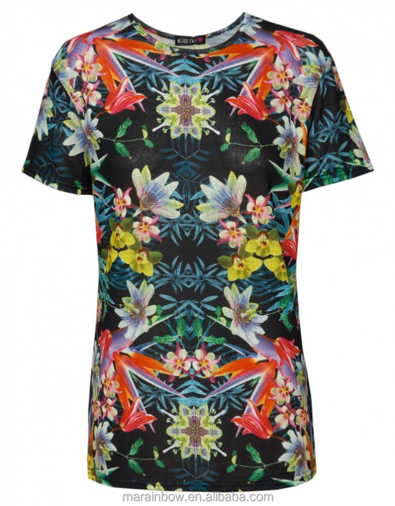 Custom Tropical Floral Sublimation Print Digital Printing