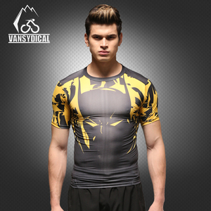 Hot Men Fitness Compression T-shirts Red Wholesale Custom Men T Shirts