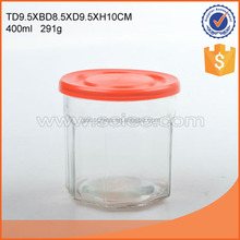 400ml 850ml glass jar candle holder with lid