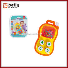 Red plastic baby mobile phone toys