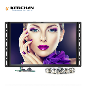 10 inch lcd media player with push button for different video