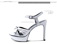 closed toe high stiletto heel ankle strap white kid leather womens pumps
