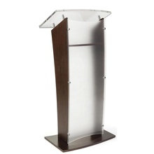 Glass Lectern Frosted Acrylic Wood Church Lectern