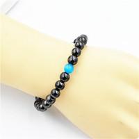 High Quality opal stone hematite stone insidian yoga bead elegant 8mm blue semi precious Matt Agate Beads Bracelet for jewelry