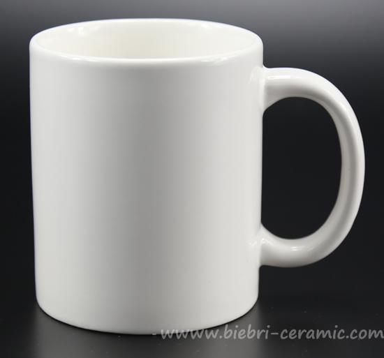 12oz Plain White Color Fancy Designed Decal Printable Porcelain Mugs Cups