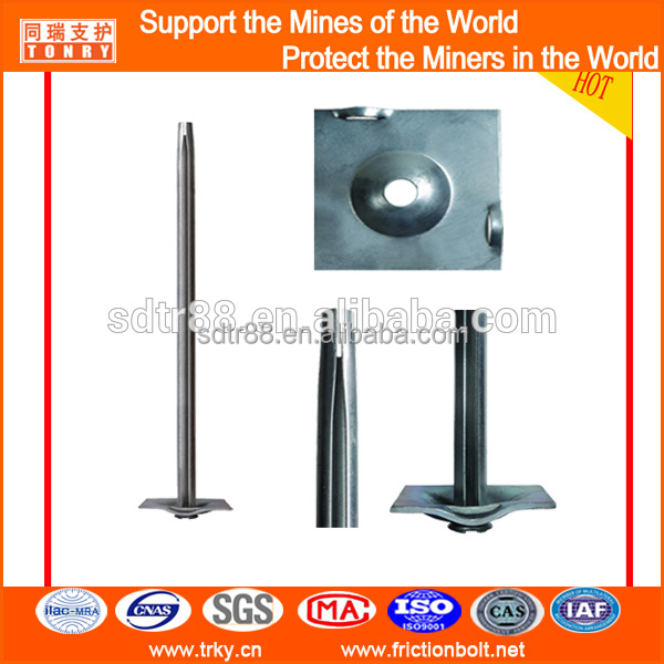 Hot dip galvanzied 2.4m split set rock bolt dia 33mm stocked in warehouse