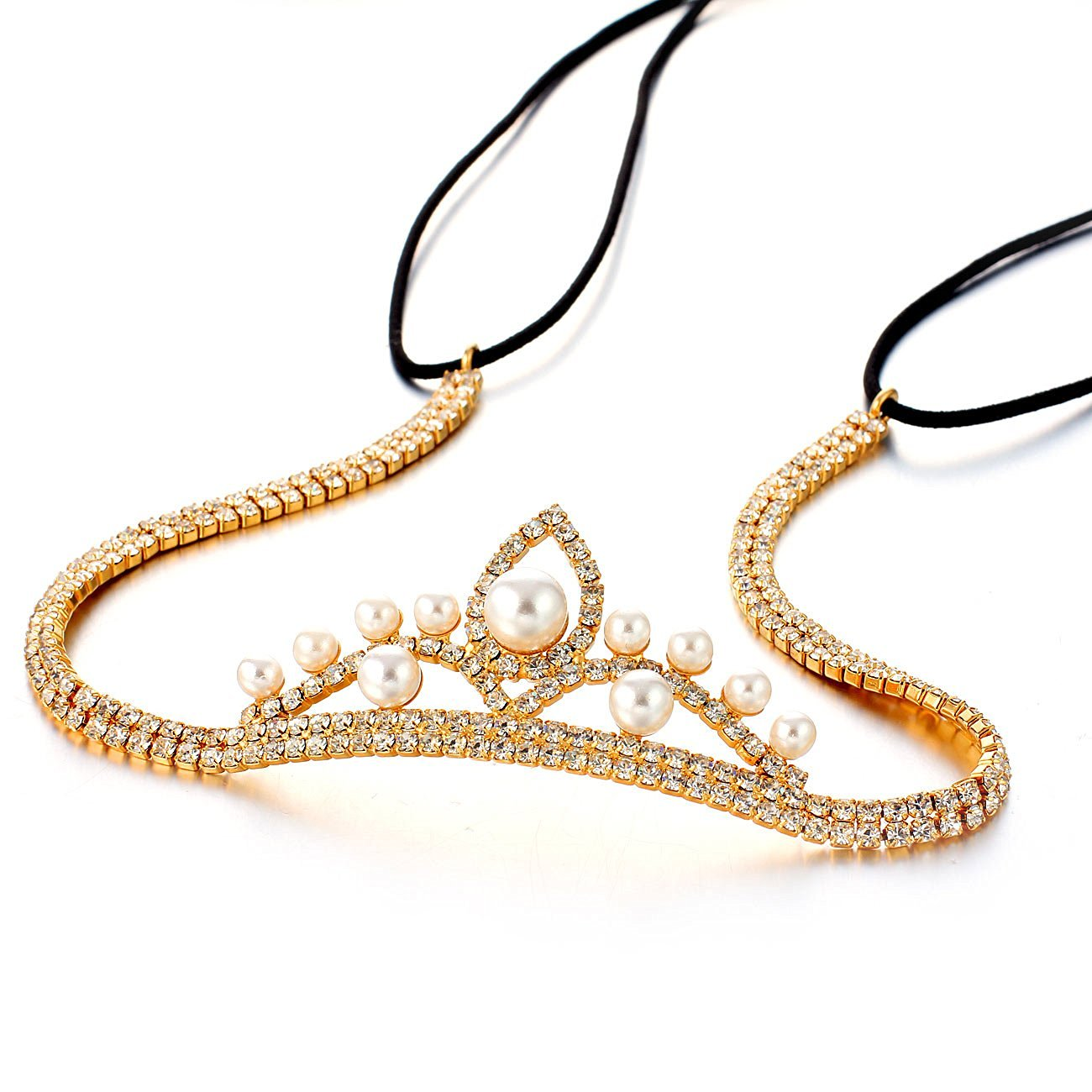 b775b7296 Get Quotations · Janeo Genuine Swarovski Crystal Elements Hair Band in 14k  Gold Plating. A Real Stunning &