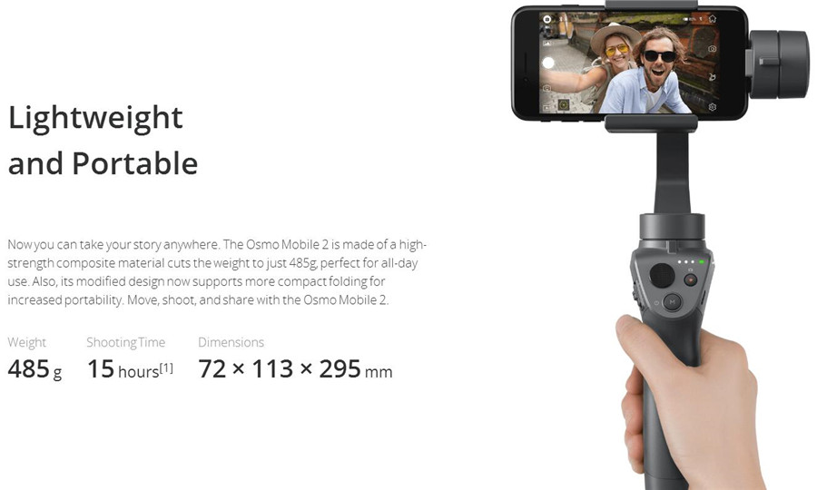 2018 New and Most Worthy DJI Osmo Mobile 2 handheld smartphone gimbal