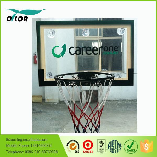 Mini wall mounting glass basketball backboard system