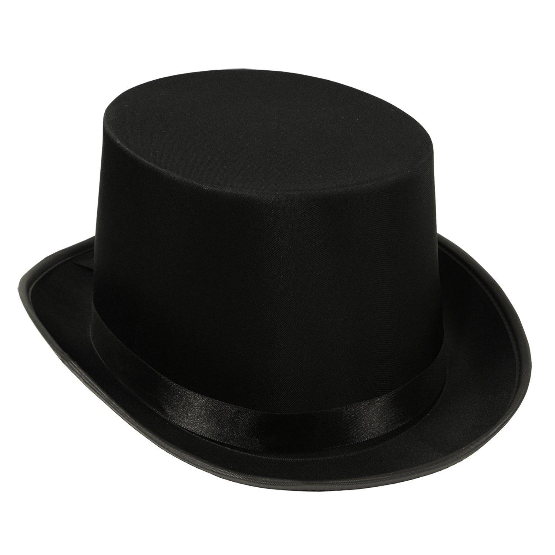 Beistle 60839-BK 6-Pack Satin Sleek Top Hat, Black