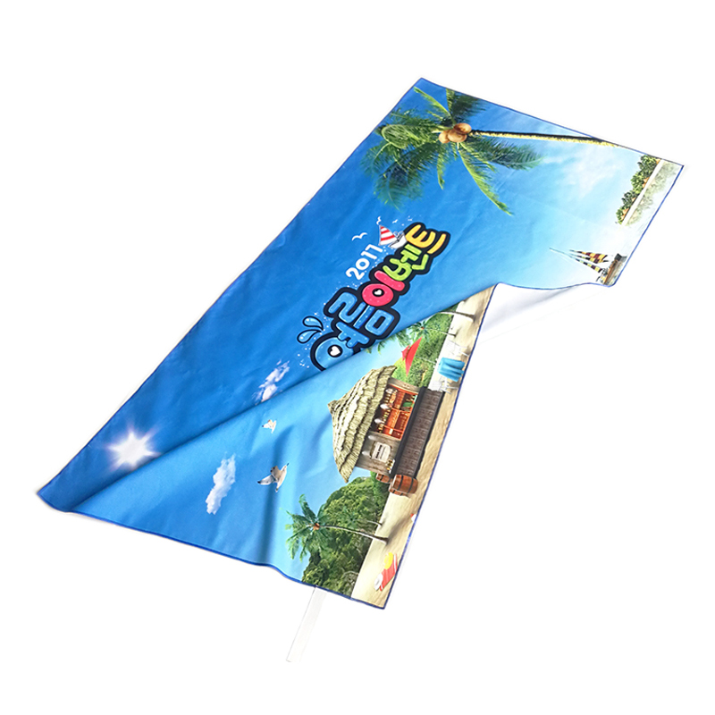 Custom sublimation printing microfiber sports towel