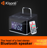 New Design!! Bluetooth Speaker With LED Display Alarm Clock FM Radio +Remote Controller For iPhone/Android
