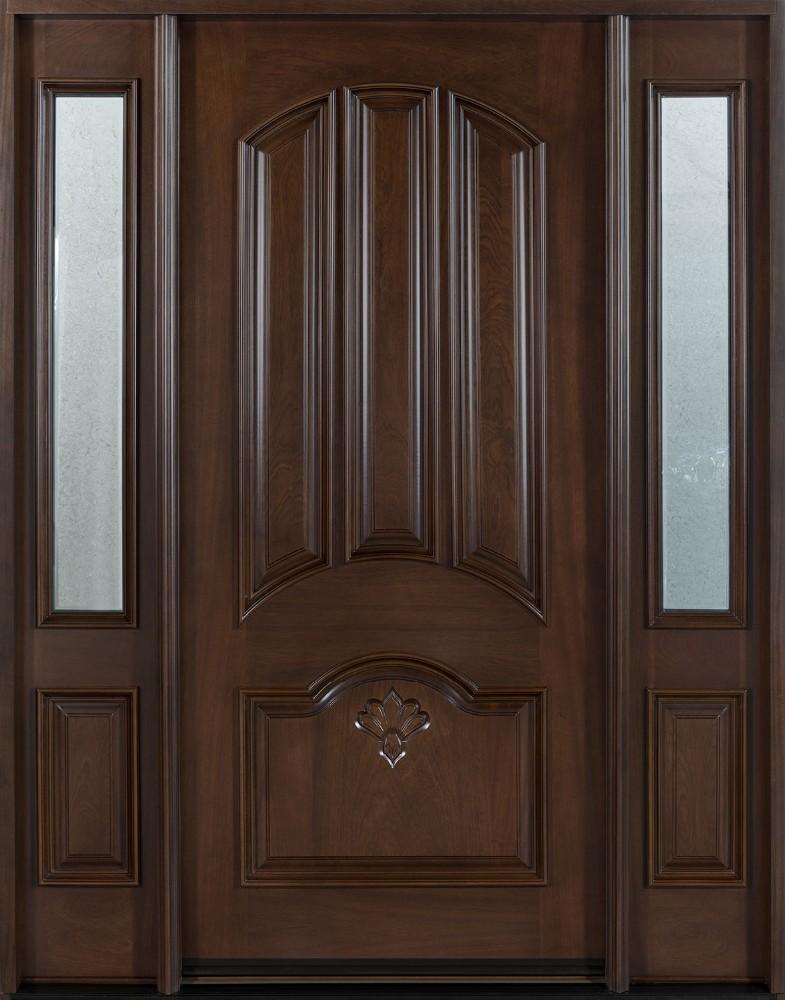 Madera maciza frente de entrada puerta principal diseoPuertas