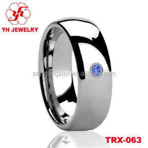 Newst Silver totally polished tungsten carbide ring wedding ring wholesale Factory Price