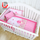 Cotton Baby Bedding Cartoon Castle Theme Printing Microfiber Baby Girl Crib Bedding Sets Cheap