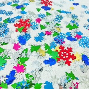 Snowman snowflake plastic glitter table confetti for christmas party decoration