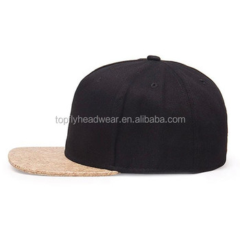 Custom Blank 5 Panel Cork Brim Snapback Cap And Hat Wholesale - Buy ... 7c2a3a7cdfc9