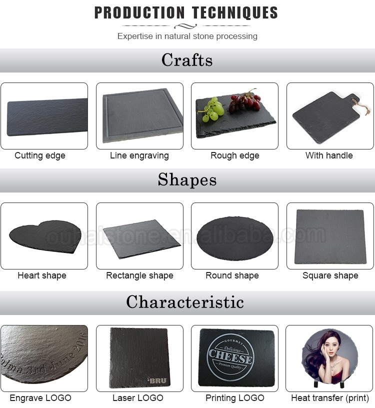 Various shapes and sizes natural slate restaurant plates dinner plate round black stone plates for tableware  sc 1 st  Alibaba & Various Shapes And Sizes Natural Slate Restaurant Plates Dinner ...