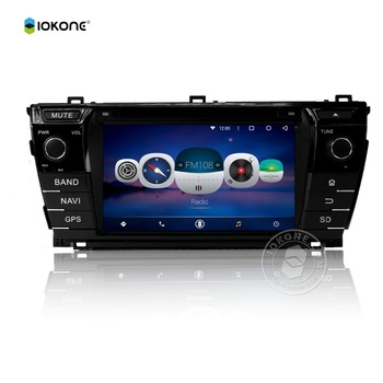 IOKONE Hot SaleBluetooth Android 5.1 portable dvd player for car headrest For TOYOTA COROLLA 2014 With Capacitive Screen/ GPS/M