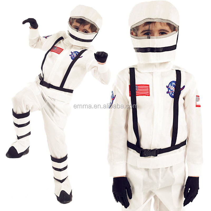 Childs Bambini Spazio Boy Man Suit NASA Astronaut Costume Outfit Casco SC1162