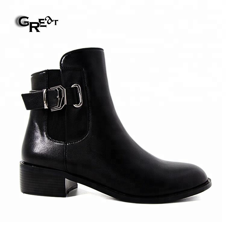 f05002e6 Venta caliente botas hebilla elástico tejido bota zapatos de mujer Zapatos