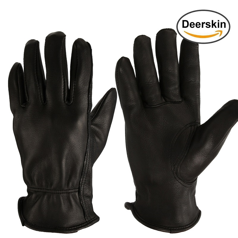 High Quality Mens <strong>Motorcycle</strong> <strong>Riding</strong> Driving Deer Leather Gloves
