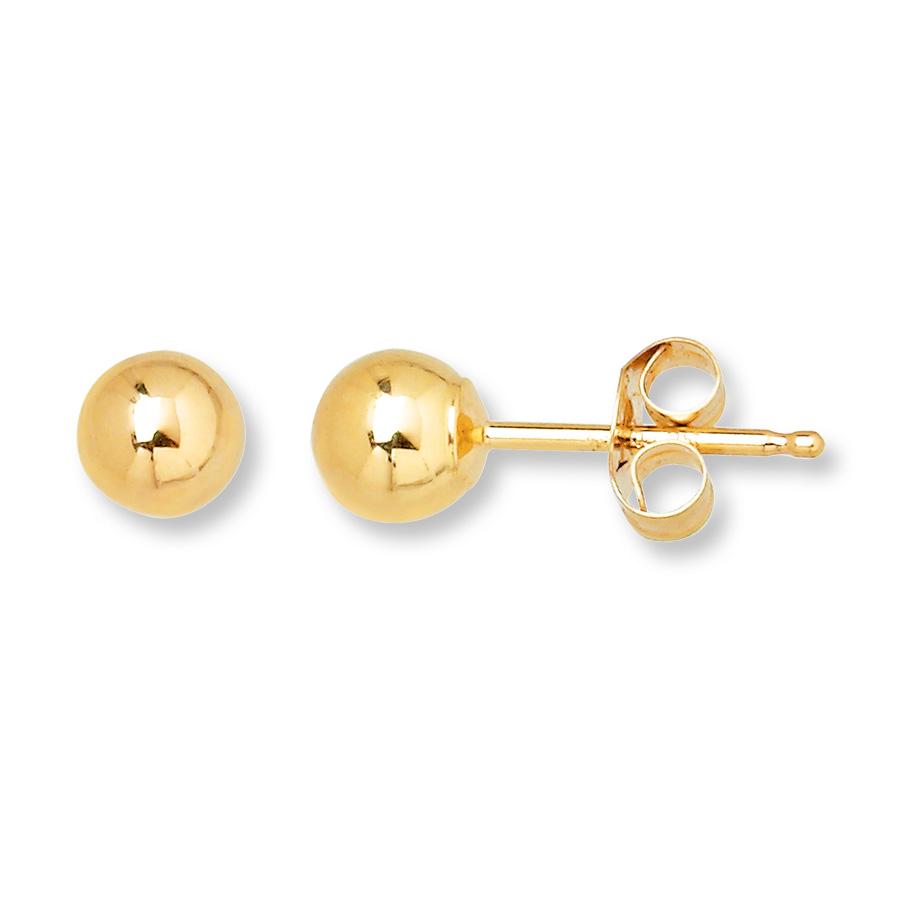 Bulk Price Stainless Steel Women Ball Stud Gold Ball Earrings ...