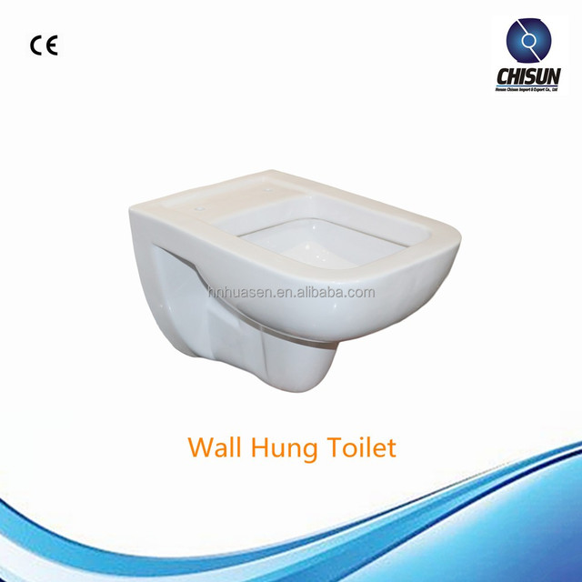 HHT-T014 Ceramic Square European P-trap Wall Hung Toilet WC Water Closet