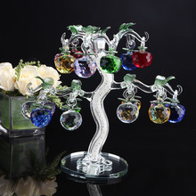 Holiday personalized gift all kinds of color crystal apple tree