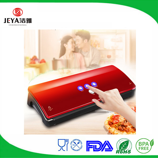 Semi-automatic embossed vacuum bag sealer