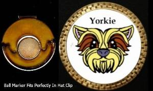 Ball Barkers Yorkie Golf Ball Marker & Magnetic Hat Clip