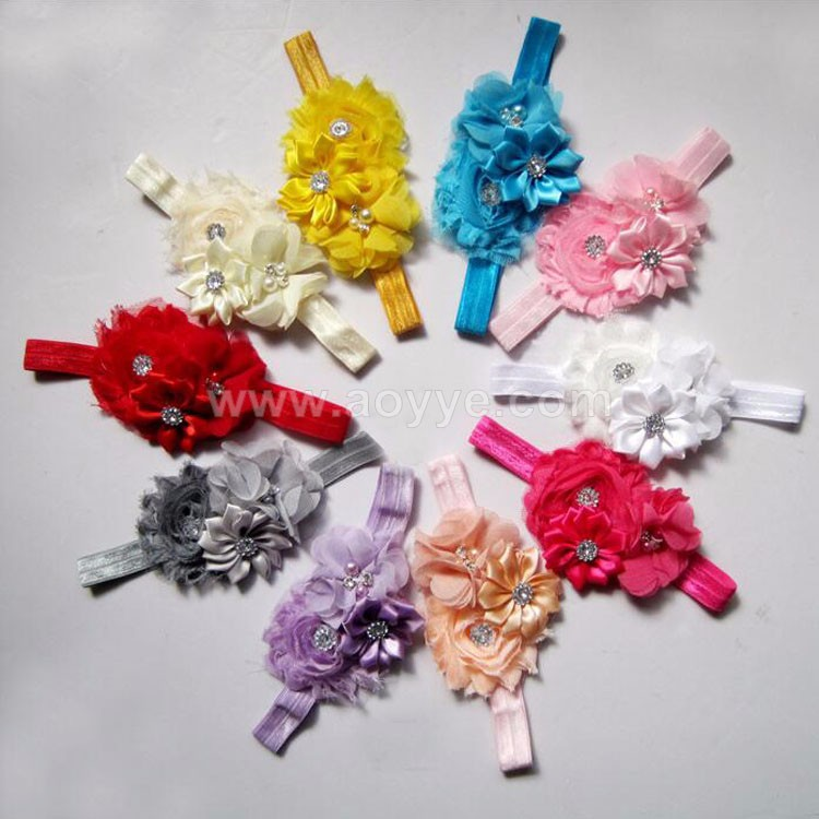Different kind colorful baby lace headbands