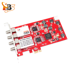 TBS6908 Professional DVB-S2 Satellite Quad Tuner PCIe Card compatible with EUMETCast CCM VCM ACM and Multi Input Stream support