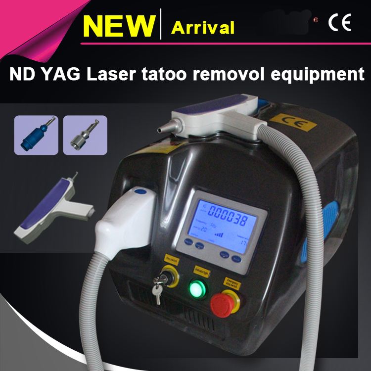Free shipping Q Switched ND YAG Laser Tattoo Removal / Tattoo Removal Laser / nd-yag laser tattoo removal