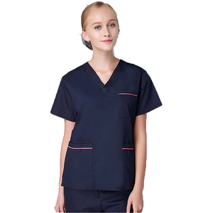 Medical Scrubs Clothing Uniform Dropshipping V Neck Poly Cotton Nursing Uniform Nurse Medical Scrubs Design