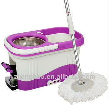 360 easy life Spin Rotate Magic Mop & Bucket & 2 Heads Sweeper Wet Mopping Cloths Mop