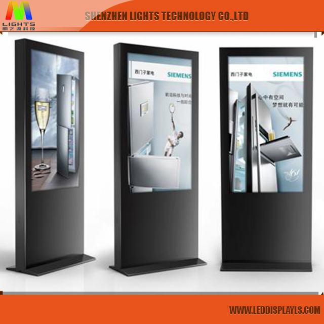 customized p5 led standing advertising display screen/durable network led digital signage layouts