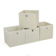 Competitive Price Solid color Closet Cube Fabric Foldable Fabric Storage Bin for Shelf Storage Cube Fabric Wholesale