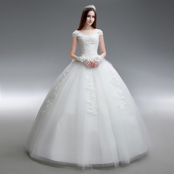 Sls031yc Simple Design 2019 New Summer Plus Size 3xl Wedding Gown Cap Sleeves Elegant Lace Long Ball Gown Wedding Dress On Sale Buy Wedding Gowns On Sale Ball Gown Wedding Dress 2019 New,Midi Dresses For Wedding Guests Uk