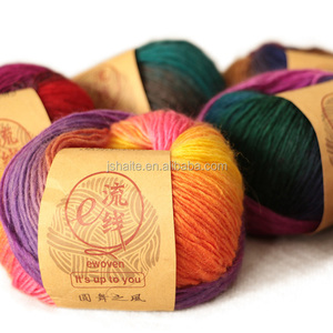 3.6NM 100% wool space dyed yarn for hand knitting sweater shawl and scarf