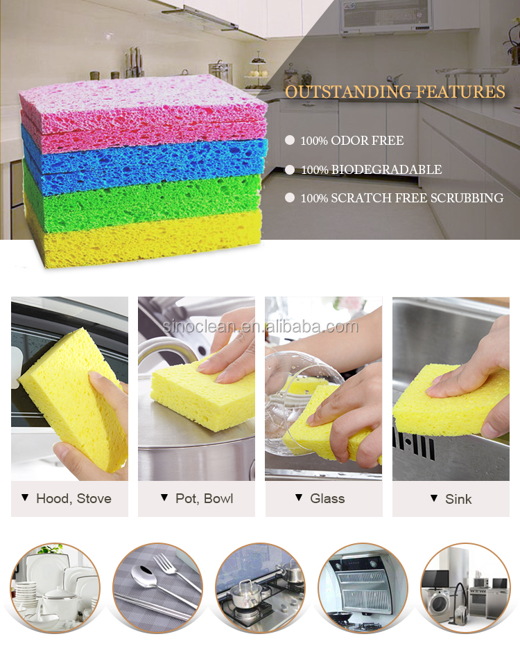 Water absorbent thin non-cellulose sponge