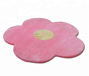 Flower Area Rug Room Decor for Kids Girls Pink and Green