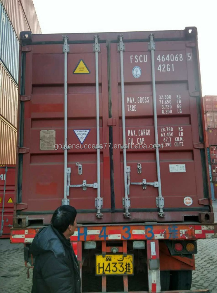 Dry cargo used 20ft 40ft shipping container for sale in Tianjin port
